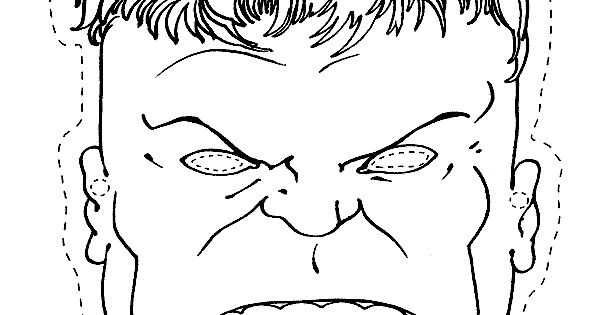 coloring avengers mask printable coloring pages for kids the hulk mask super heros printable avengers coloring mask