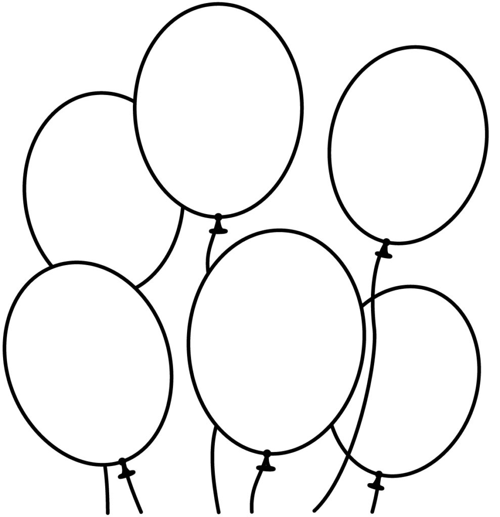 coloring ballons balloons coloring pages coloring ballons