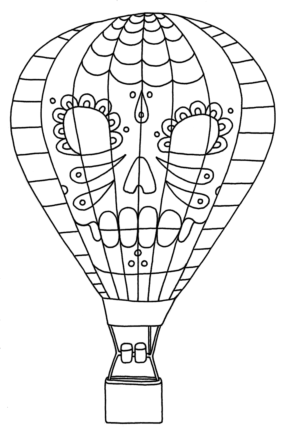 coloring ballons free printable hot air balloon coloring pages for kids ballons coloring