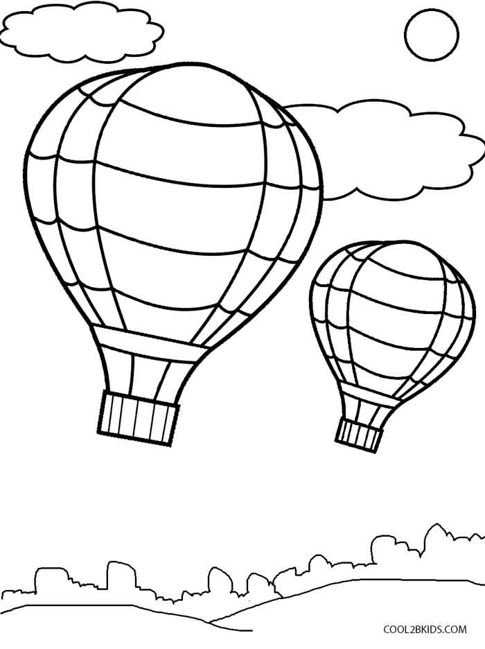 coloring balloon drawing for kids free printable hot air balloon coloring pages for kids balloon drawing coloring kids for