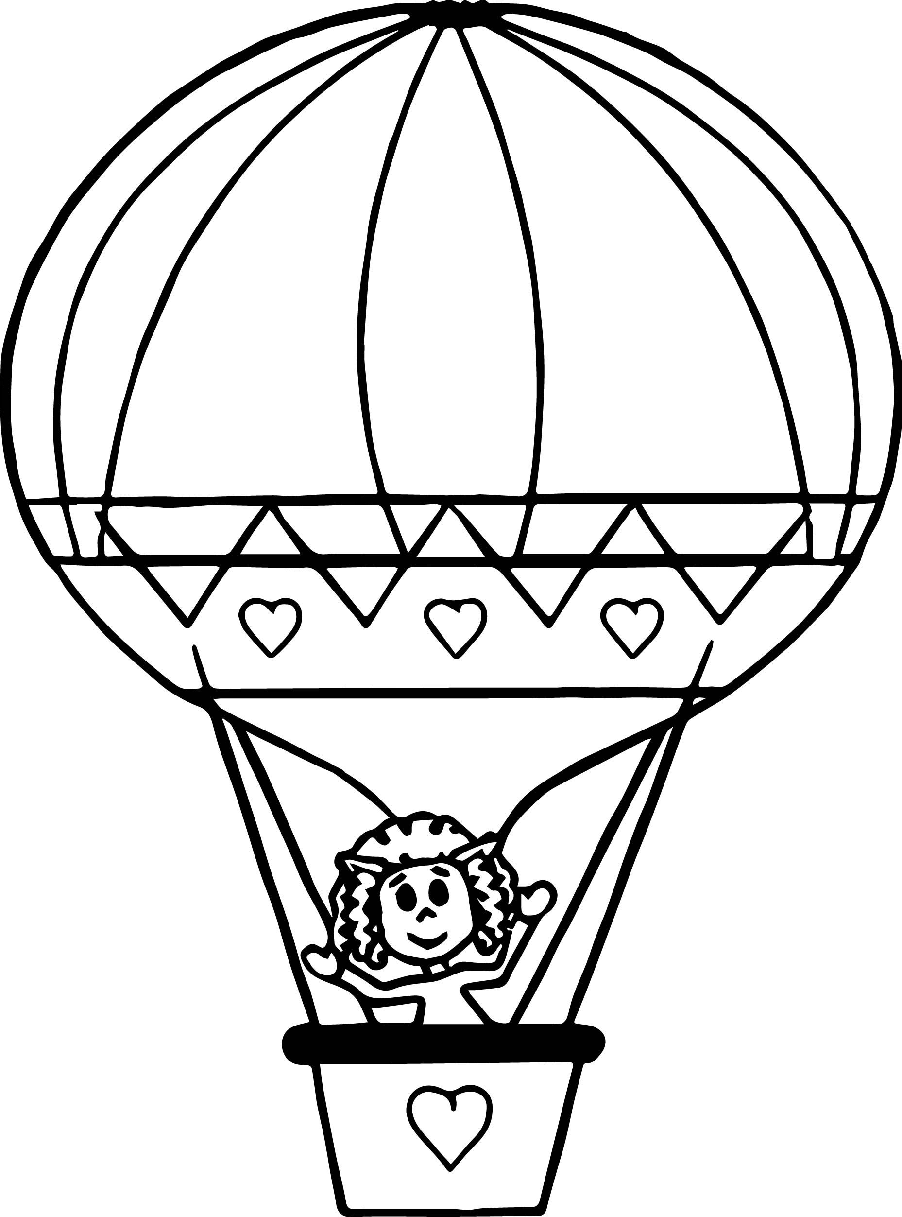 coloring balloon drawing for kids hot air balloon with lines coloring page print color fun balloon coloring drawing kids for