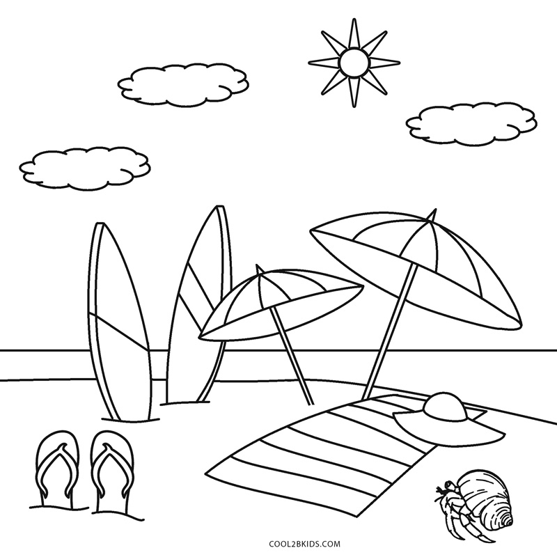 coloring beach pages 25 free printable beach coloring pages scribblefun beach coloring pages