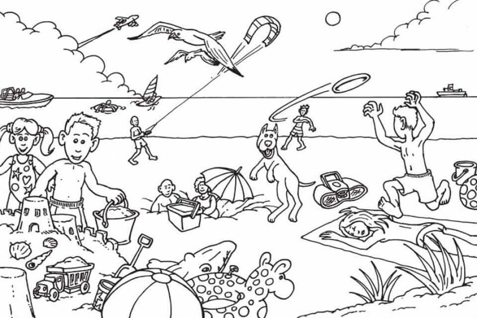 coloring beach pages 25 free printable beach coloring pages scribblefun beach coloring pages 1 1
