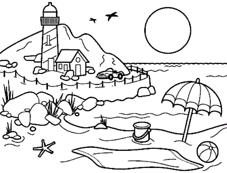 coloring beach pages beach coloring pages to download and print for free coloring beach pages