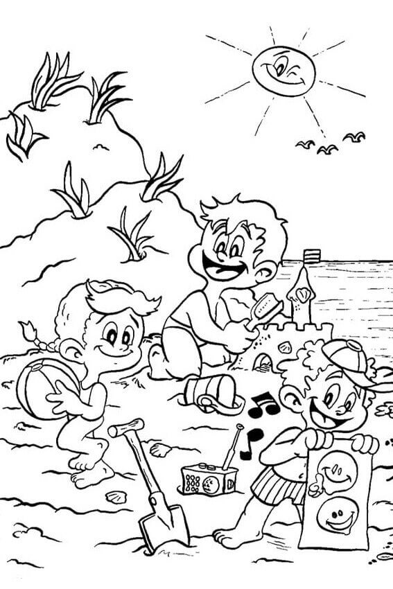 coloring beach pages beach theme coloring pages at getcoloringscom free coloring beach pages
