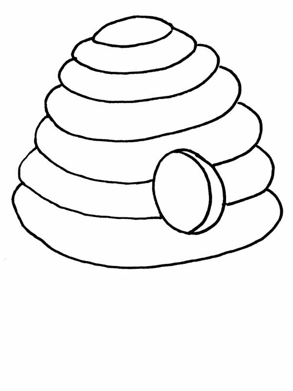 coloring bee hive bee hive coloring page clipart best coloring hive bee