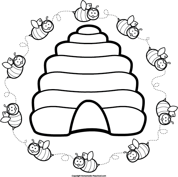 coloring bee hive bee hive pictures cartoon clipartsco bee coloring hive