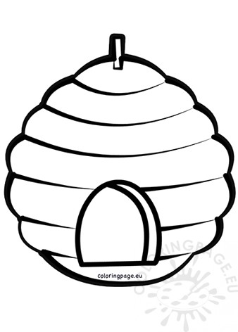 coloring bee hive beehive coloring pages getcoloringpagescom hive coloring bee 1 1