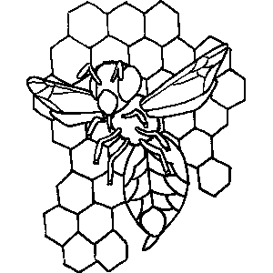 coloring bee hive wild bee beehive coloring page netart bee coloring hive