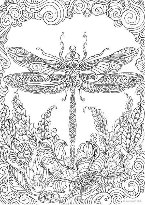 coloring book for adults 23 best dragonfly coloring pages for adults home family for adults coloring book
