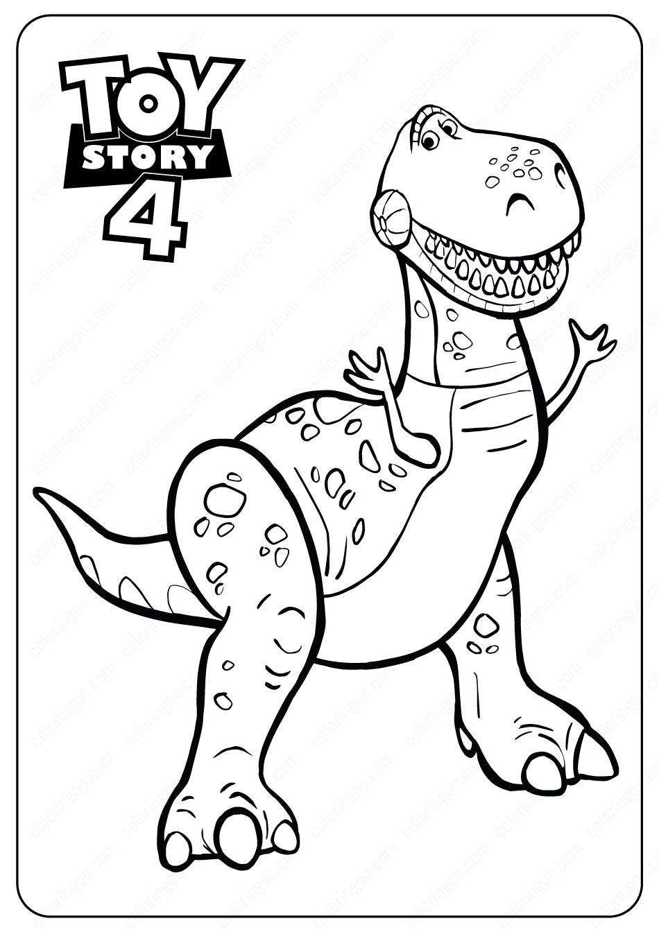 coloring book for kids pdf free printable toy story rex pdf coloring pages coloring book for kids pdf