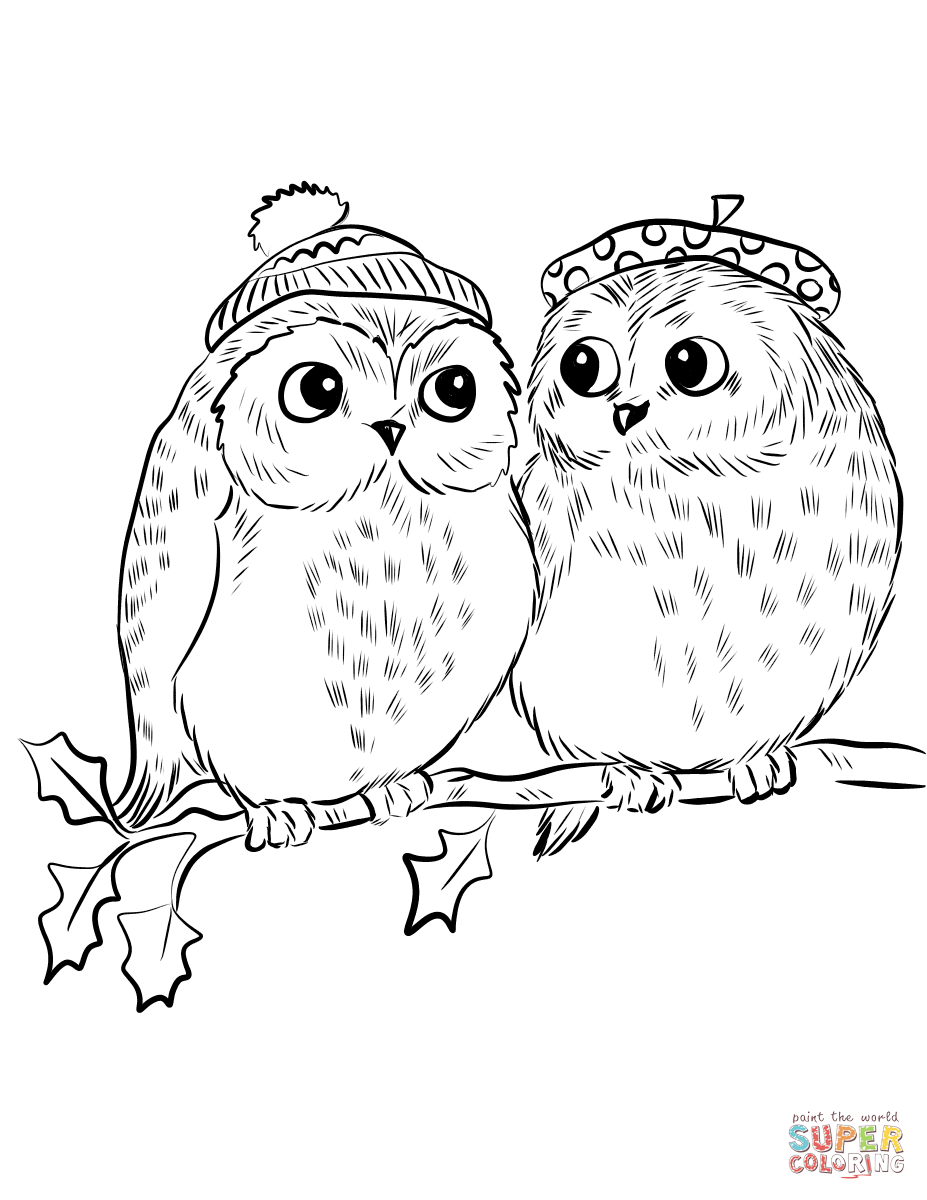 coloring book owl pictures couple of cute owls coloring page free printable book coloring owl pictures