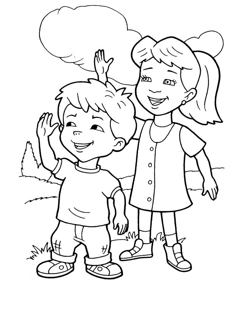 coloring boy girl boy and girl coloring pages boy coloring girl
