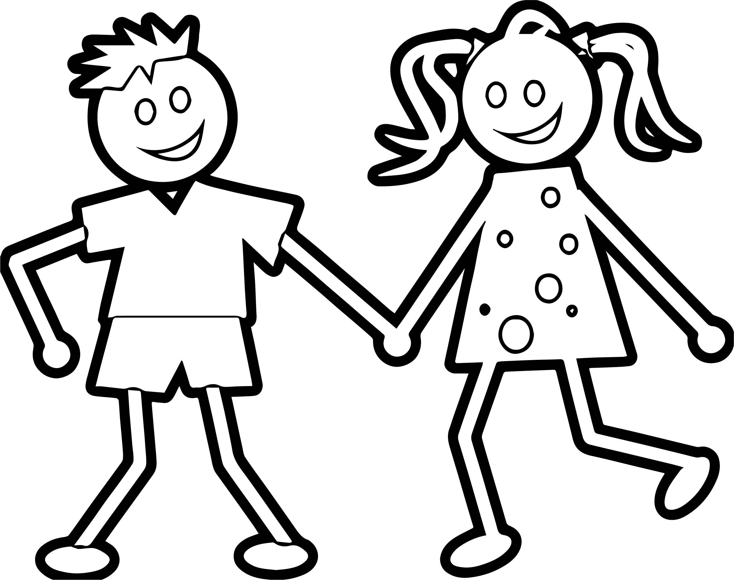 coloring boy girl boy and girl holding coloring page printable coloring pages girl coloring boy