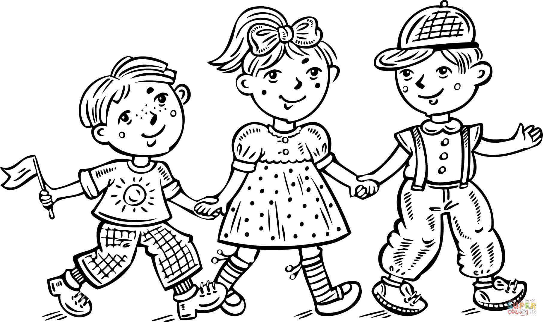 coloring boy girl boy outline drawing at getdrawings free download girl boy coloring