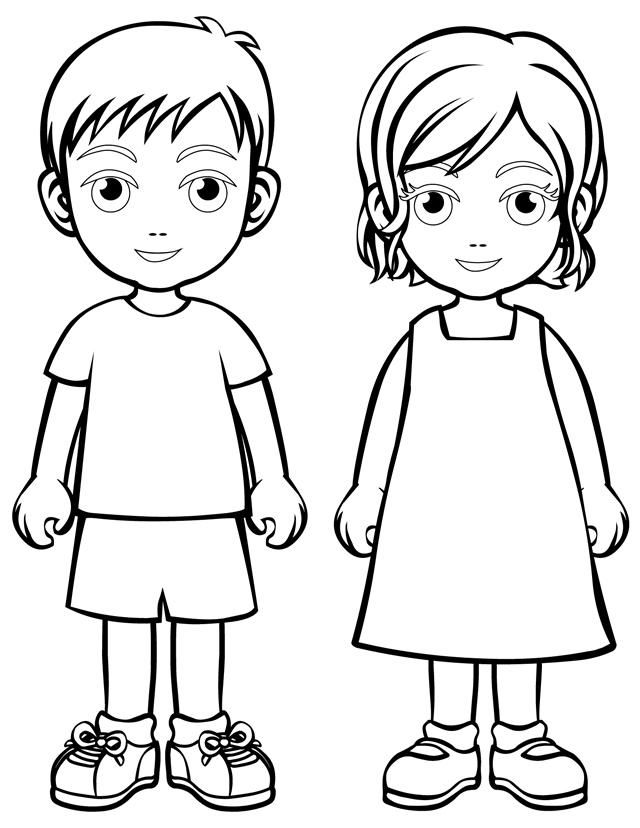 coloring boy girl coloring page boy and girl coloring home girl coloring boy