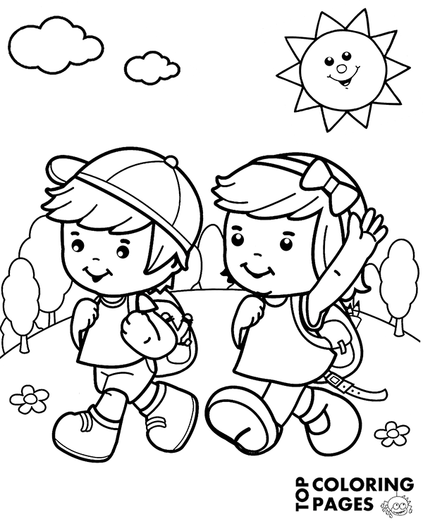 coloring boy girl little boy and girl coloring pages little girl ballerina coloring boy girl