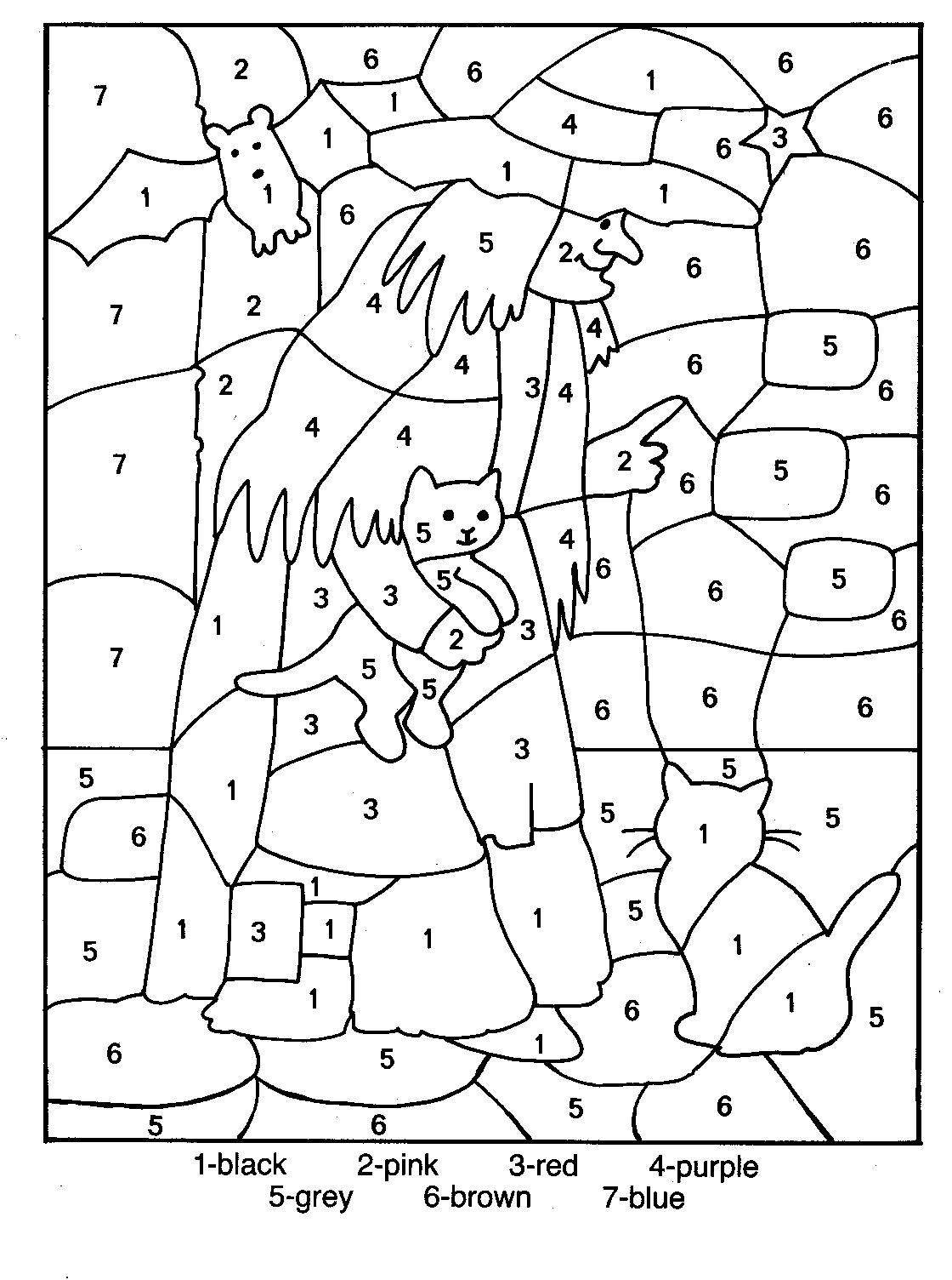coloring by number pages free printable color by number coloring pages best number coloring by pages