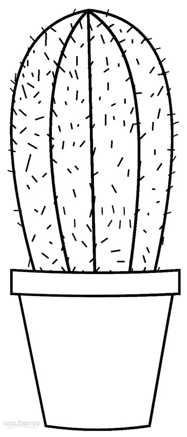 coloring cactus plant cactus flower drawing at getdrawings free download plant coloring cactus
