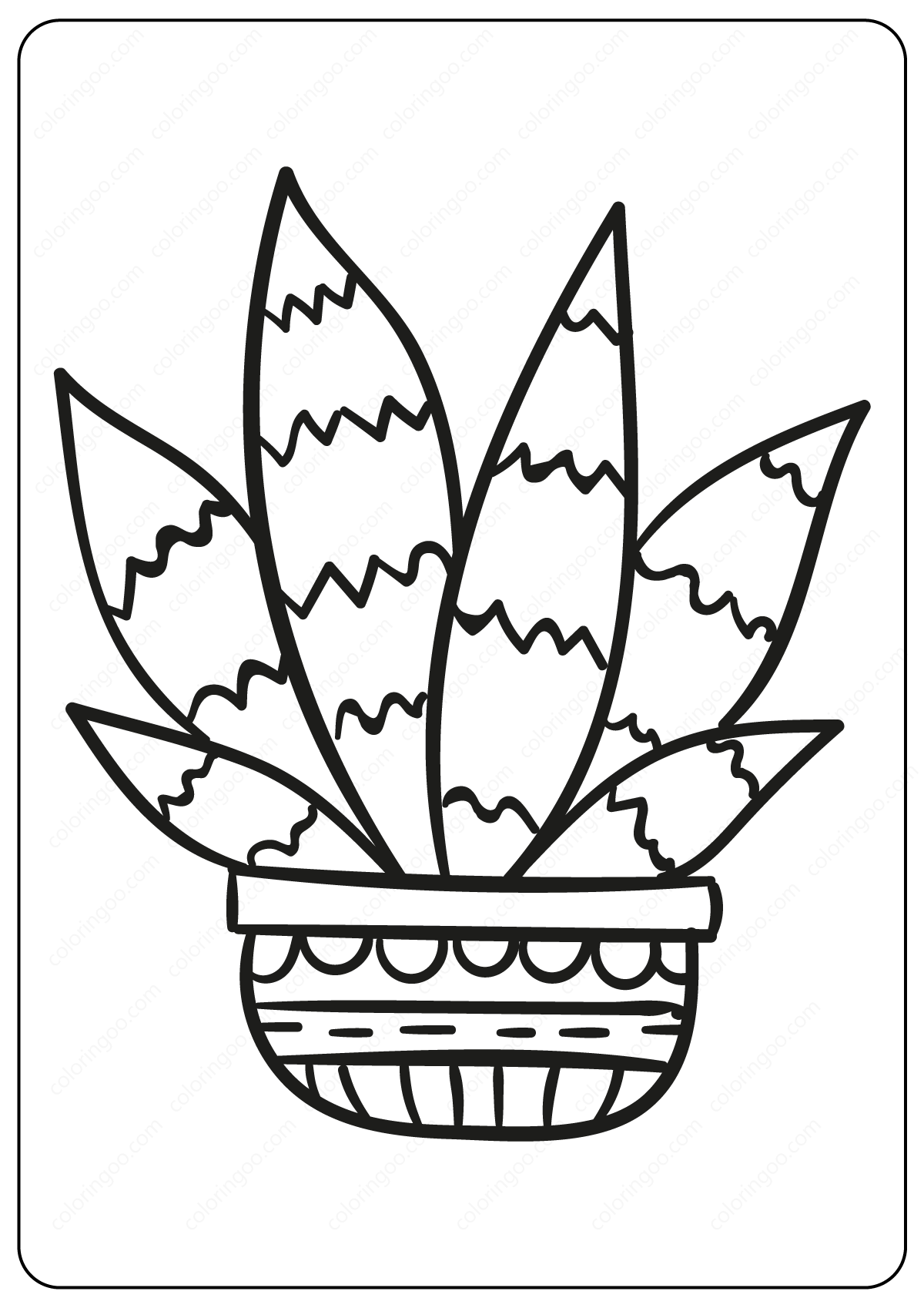coloring cactus plant desert cactus coloring page cactus embroidery pattern cactus plant coloring