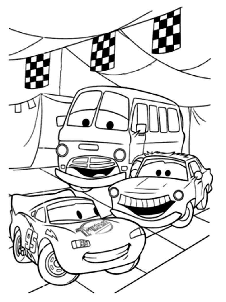 Coloring cars for toddlers