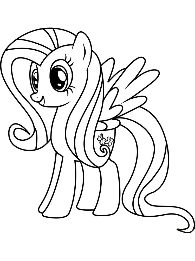coloring cartoon little pony fluttershy coloring pages free fluttershy is one of the cartoon coloring little pony