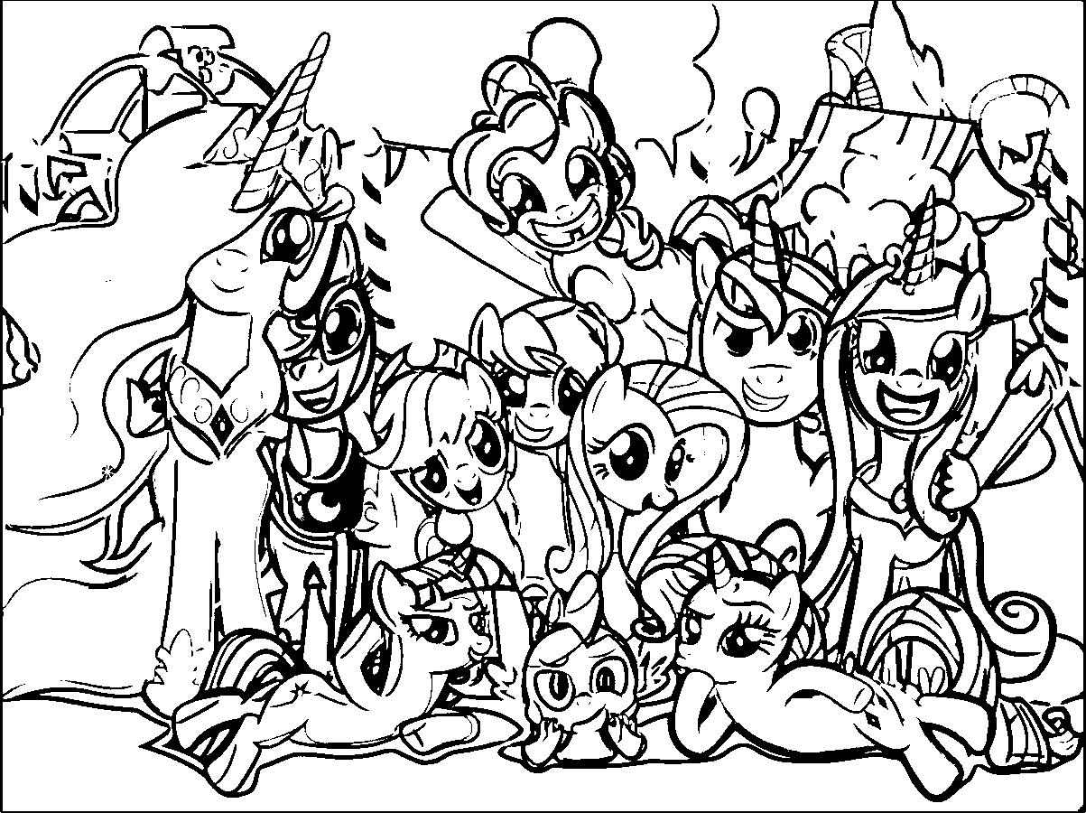 coloring cartoon little pony my little pony characters coloring pages at getcolorings cartoon pony coloring little