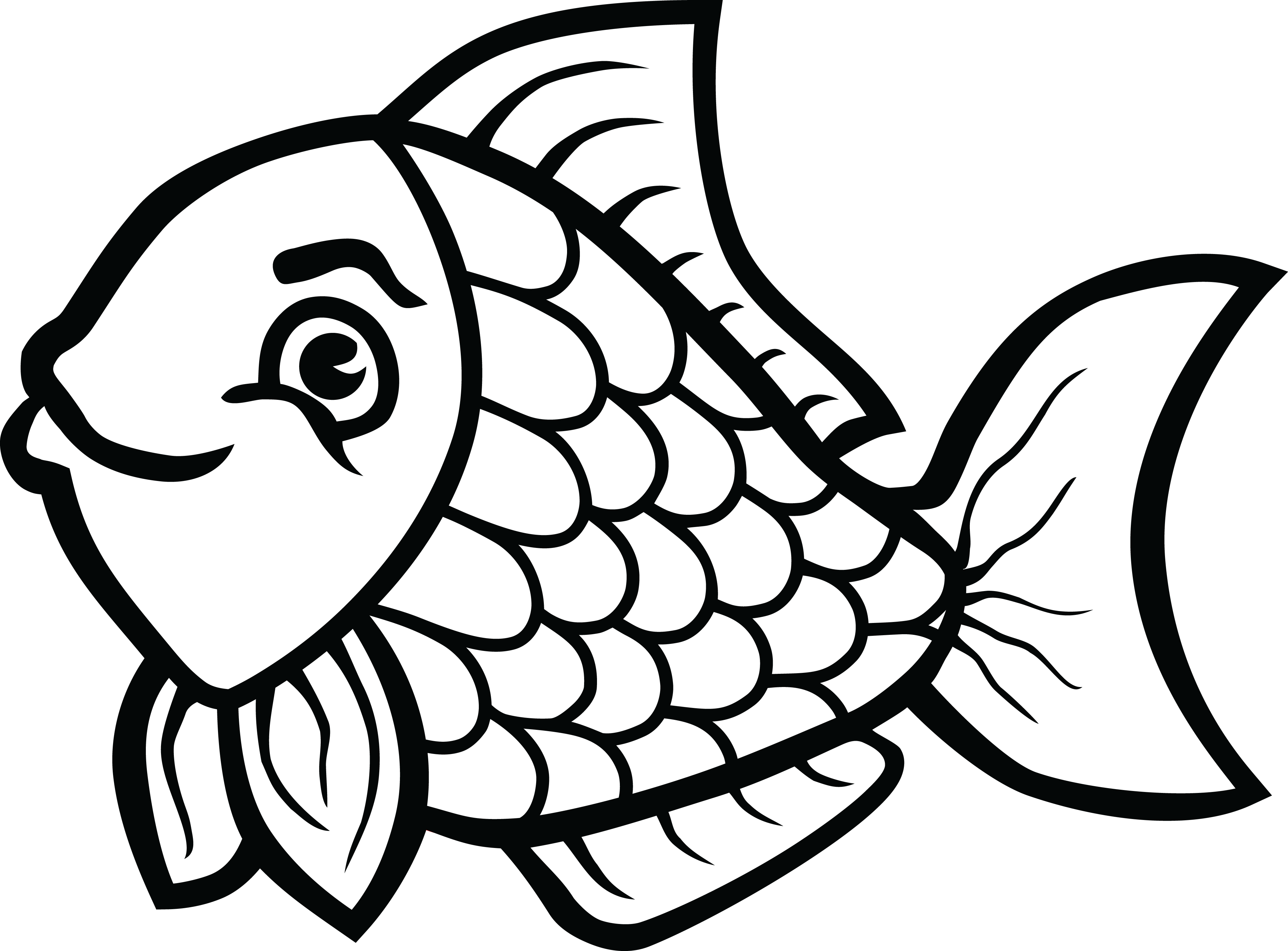 coloring cartoon png download fishing clipart black and white fish line art png cartoon coloring