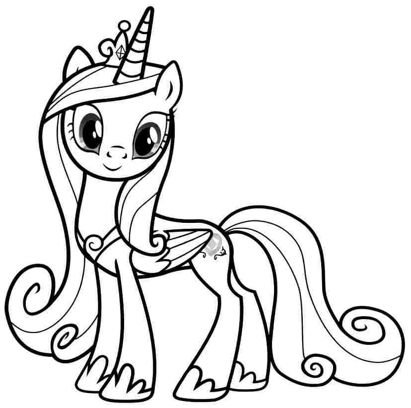 coloring cartoon pony pictures of cartoon little girls clipartsco pony cartoon coloring