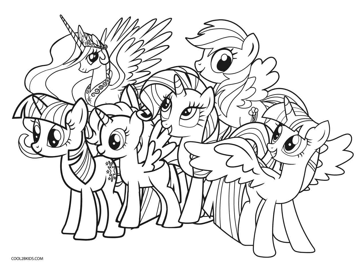 coloring cartoon pony ponies from ponyville coloring pages free printable coloring cartoon pony 1 1