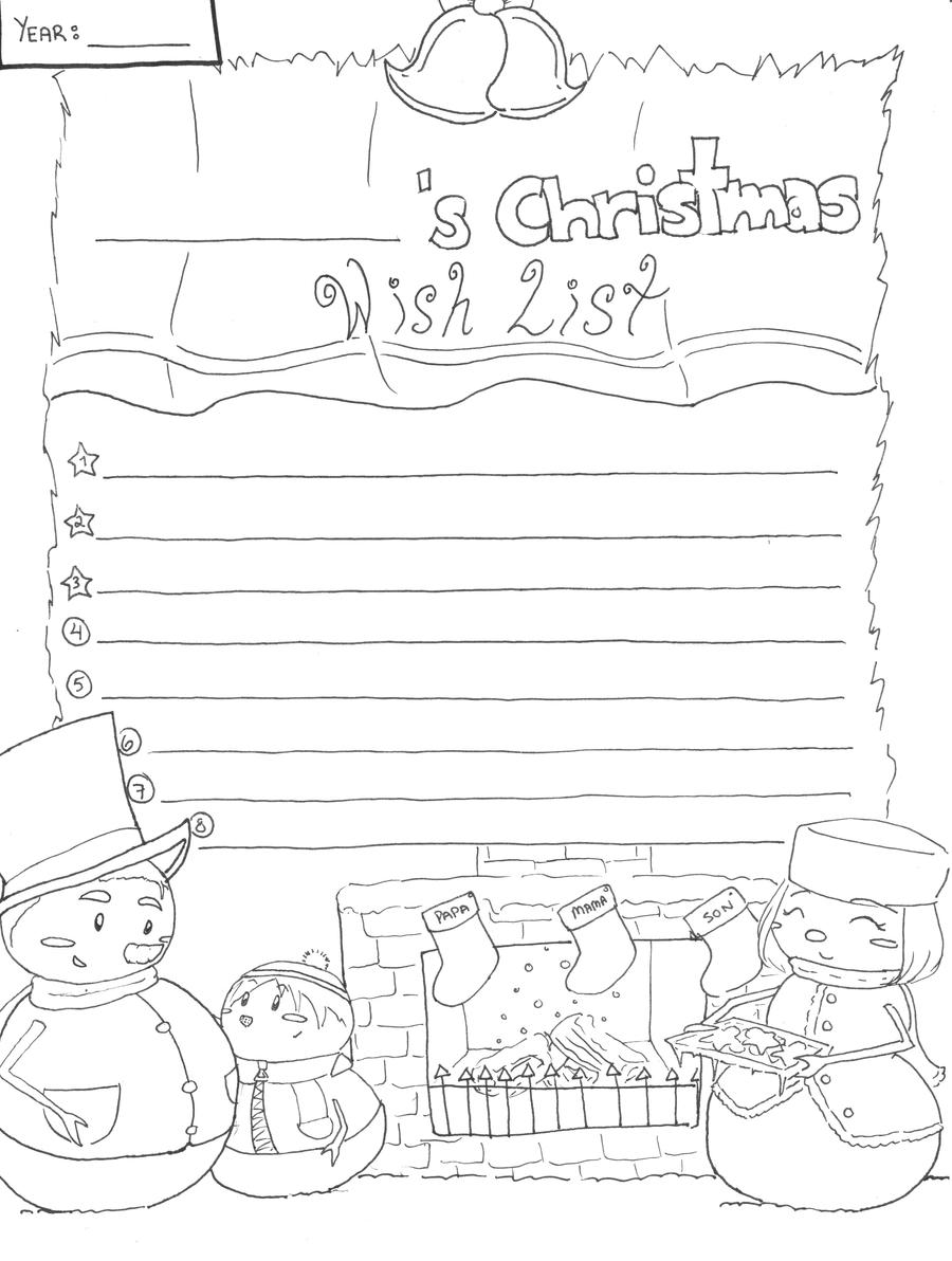 coloring christmas list list drawing at getdrawings free download coloring christmas list
