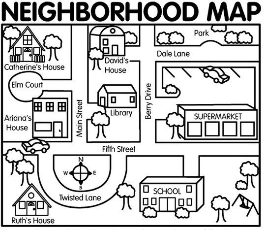 coloring community places 5 best images of places in my neighborhood worksheet esl community places coloring