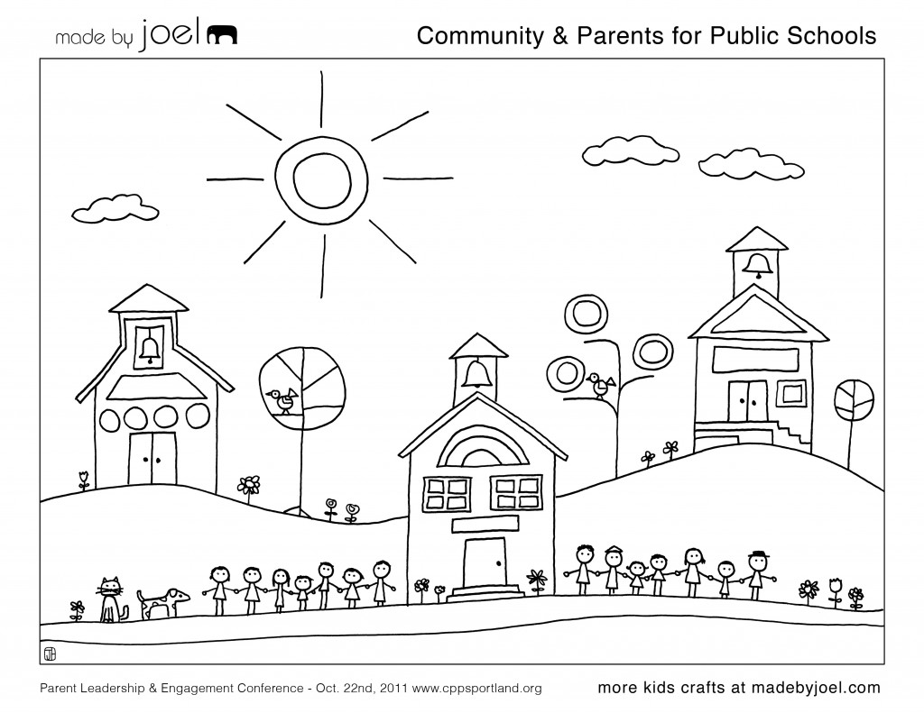 coloring community places getting around town coloring page crayolacom coloring community places