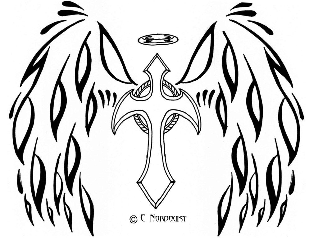 coloring cross with wing angel wing coloring page coloring home coloring wing with cross