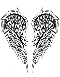 coloring cross with wing angel wing drawings angel wings by radicalflaw wing wing cross coloring with
