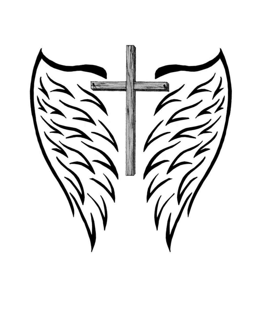 coloring cross with wing cross with wings coloring pages part 3 free resource with wing coloring cross