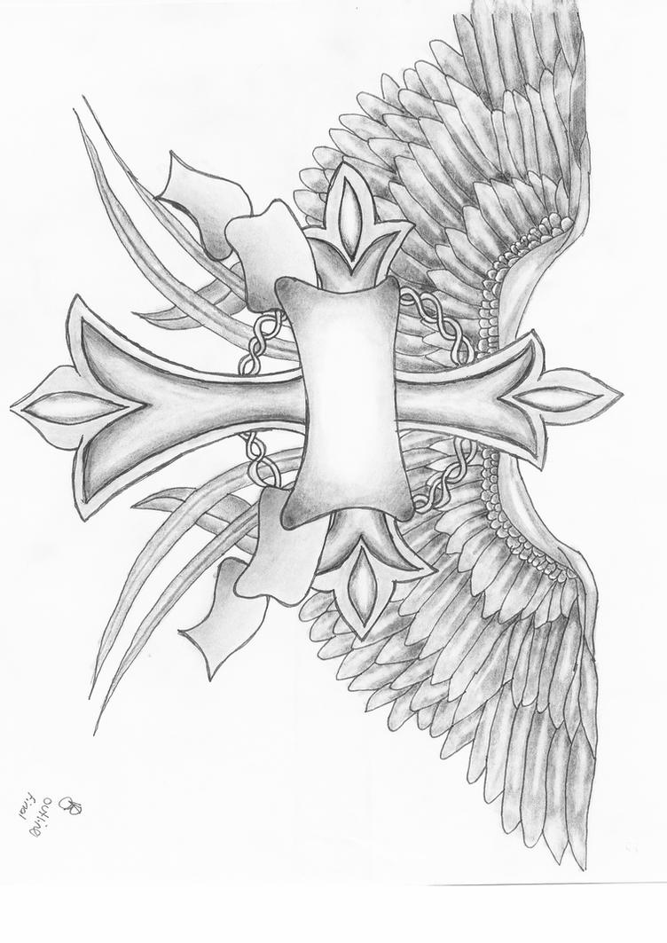 coloring cross with wing cross with wings tattoo drawing sketch coloring page wing cross coloring with