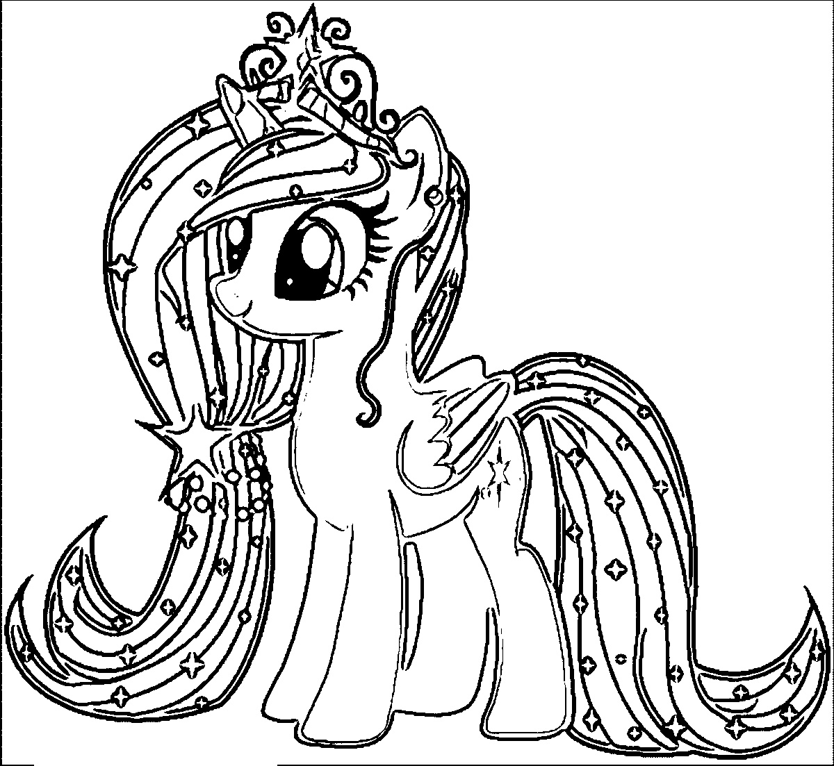 coloring cute little pony baby pony coloring pages at getcoloringscom free pony little coloring cute