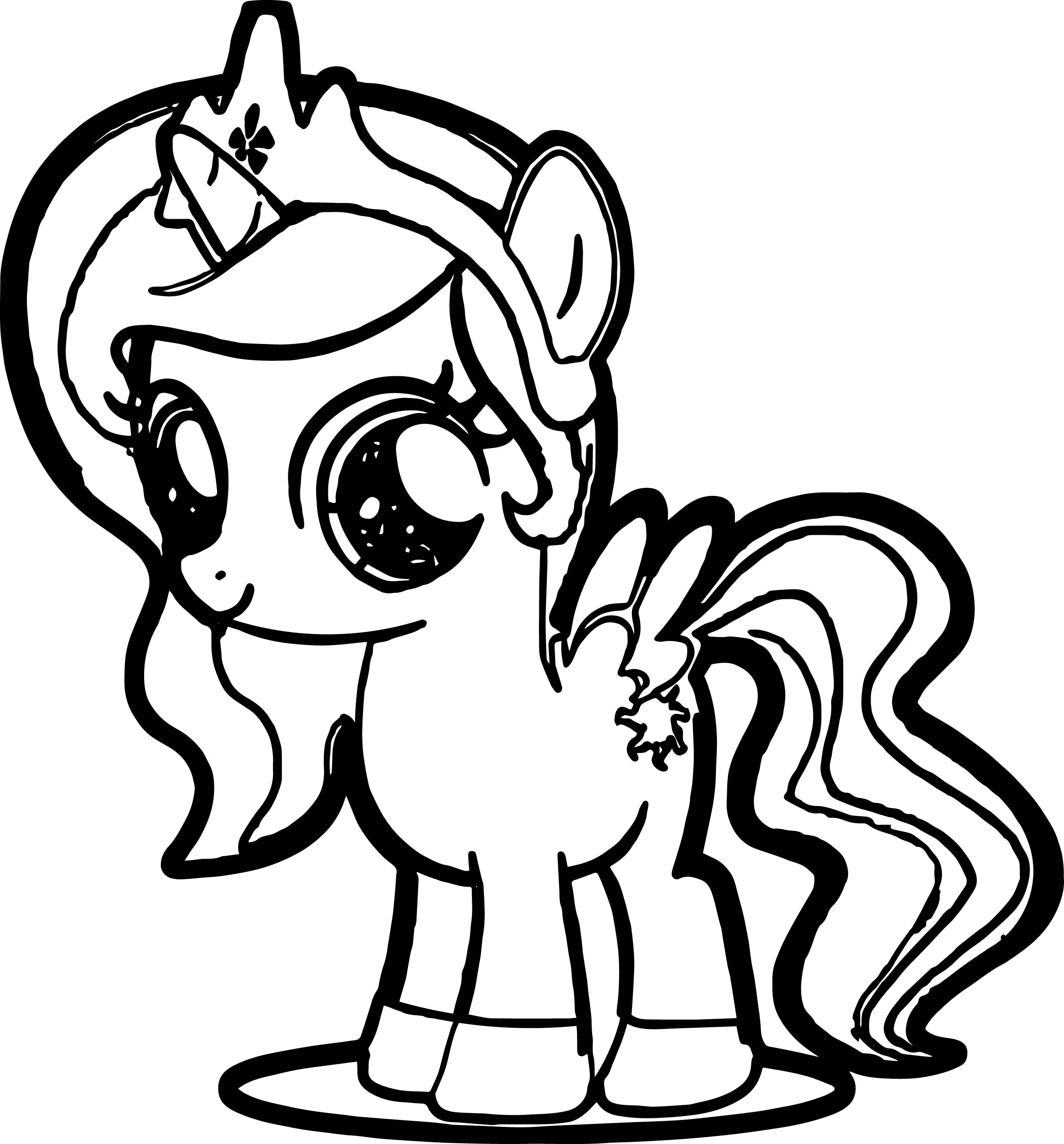 Coloring cute little pony