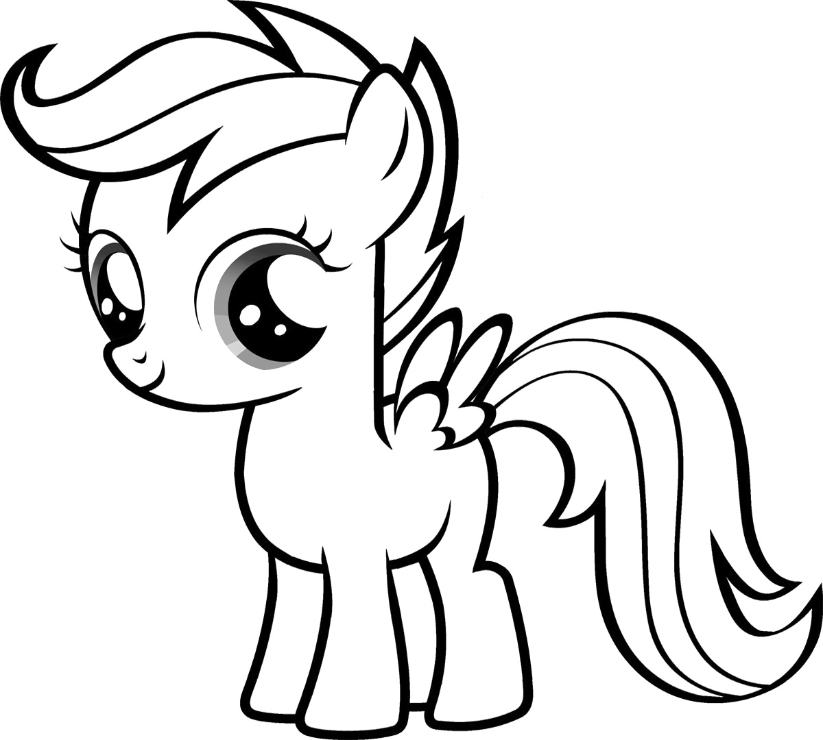 coloring cute little pony cute pony coloring pages at getcoloringscom free cute coloring pony little