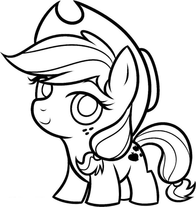 coloring cute little pony cute pony coloring pages at getcoloringscom free little pony cute coloring