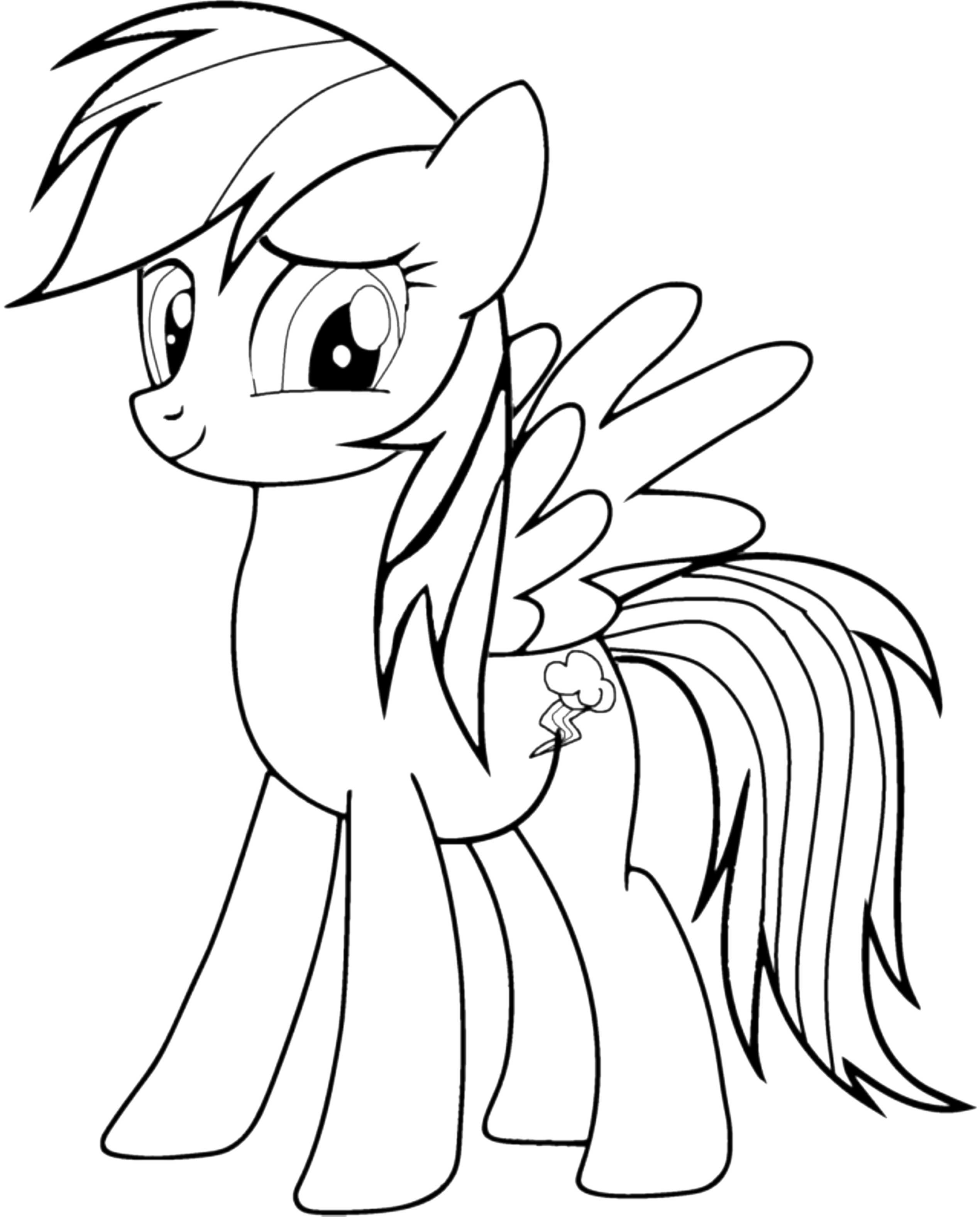 coloring cute little pony mlp coloring pages rainbow dash coloring home pony little cute coloring