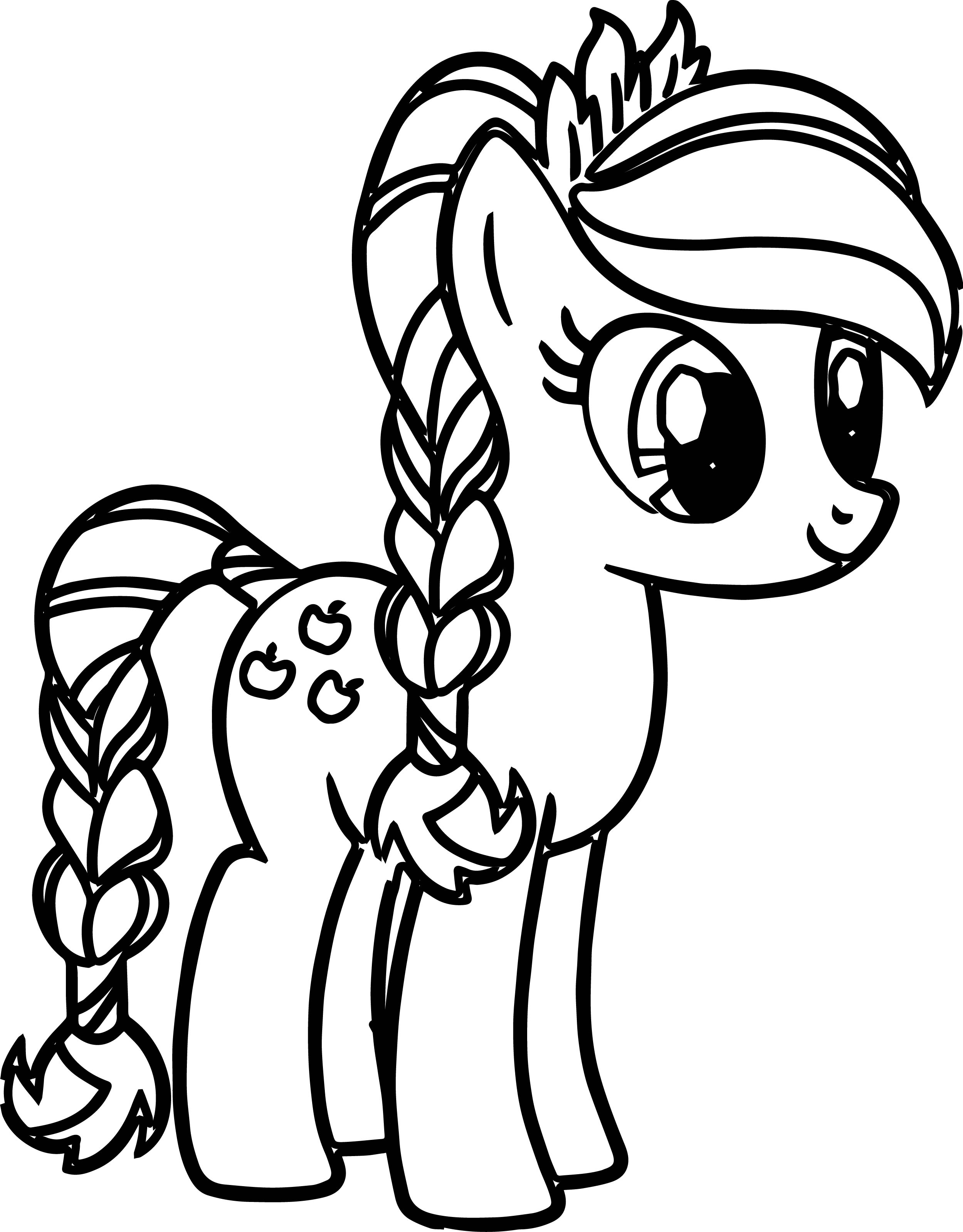 coloring cute little pony my little pony unicorn coloring pages at getcoloringscom coloring cute little pony