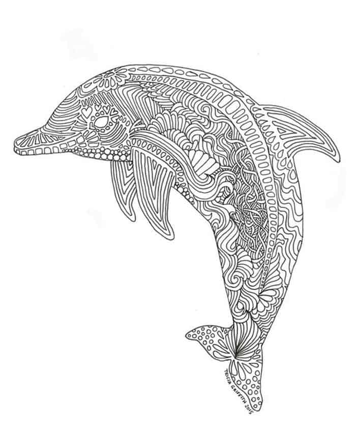coloring dolphin mandala download for free zentangle spinner dolphin coloring pages mandala coloring dolphin