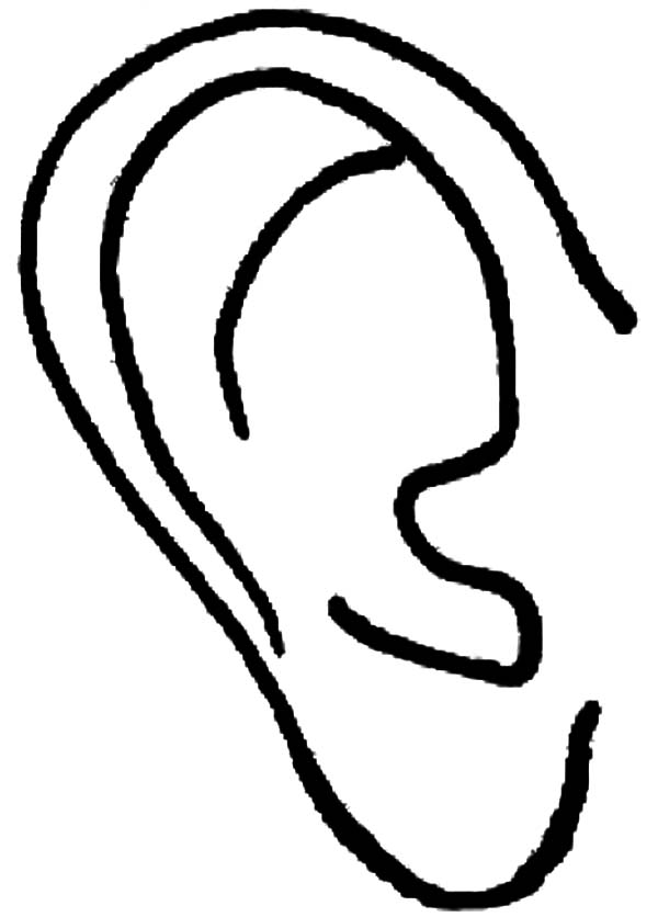 coloring ear human ear coloring pages kids play color coloring ear