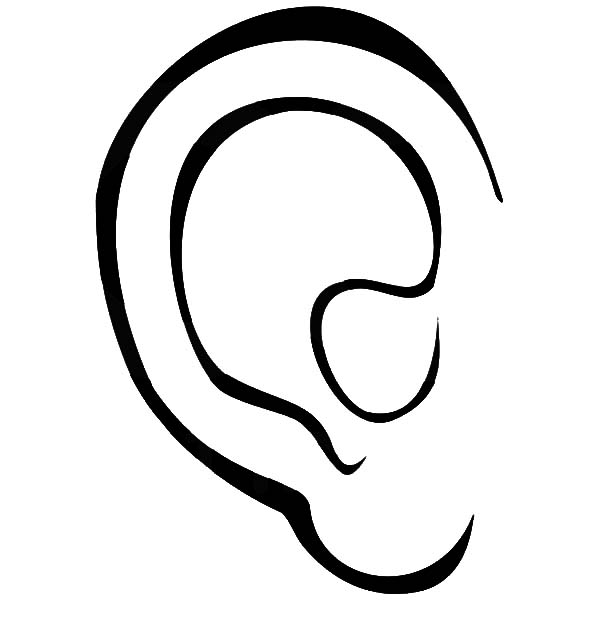 coloring ear pair of ear coloring pages kids play color coloring ear