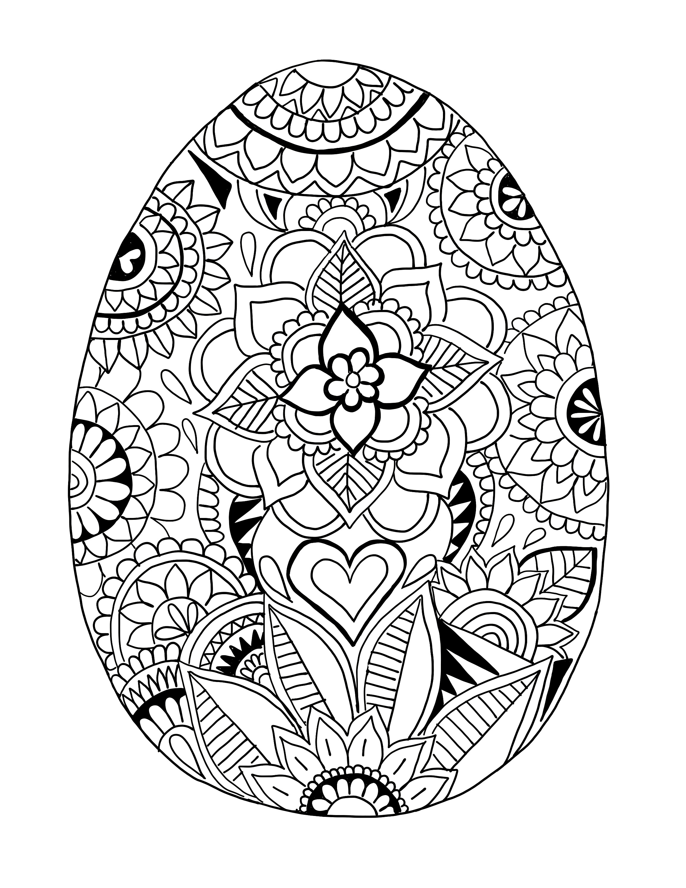 Coloring easter egg
