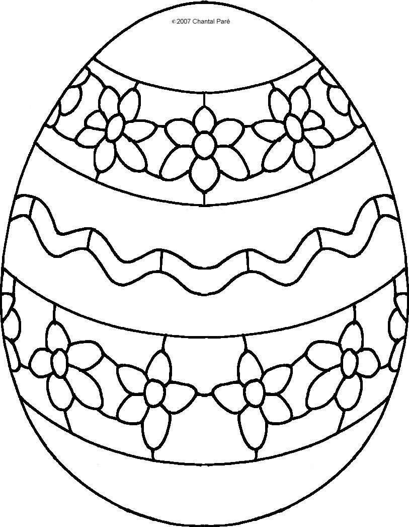 coloring easter egg easter eggs colouring pics egg easter coloring