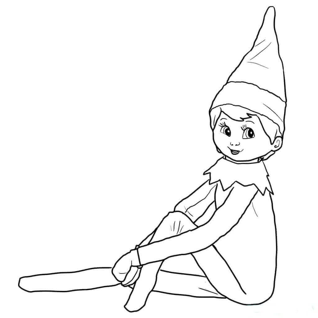 coloring elf 30 free printable elf on the shelf coloring pages coloring elf 1 1