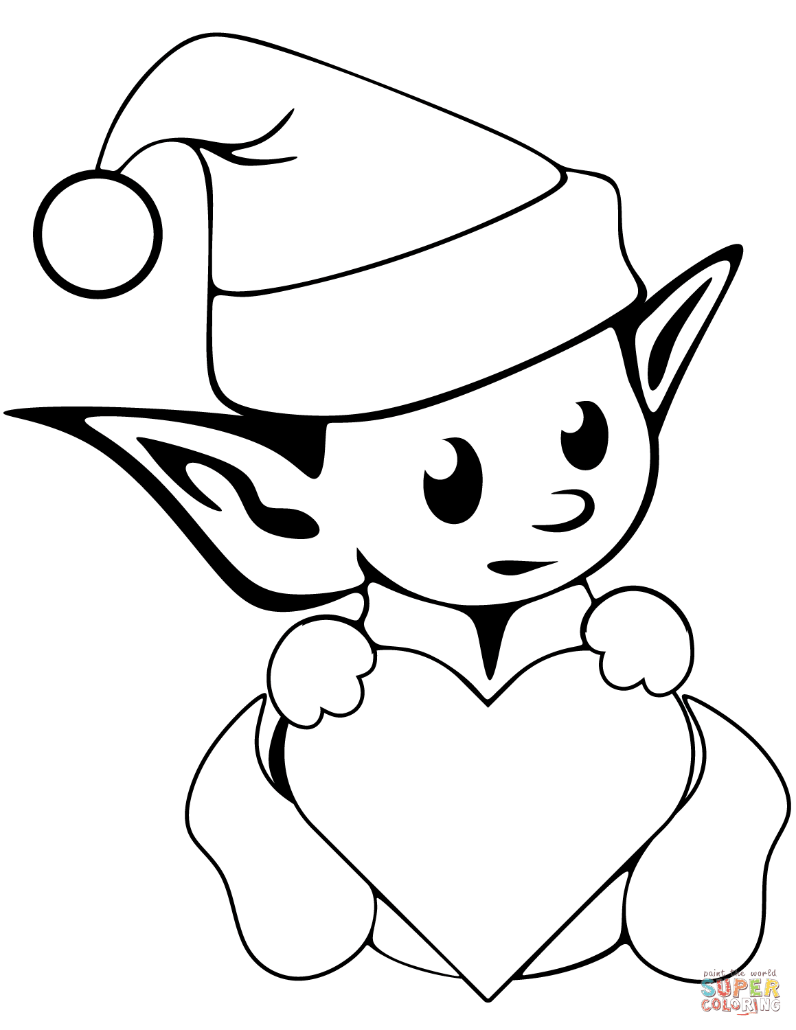 coloring elf online christmas elf printable coloring pages hubpages coloring elf